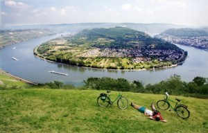 Höhenprofil Rhein Radweg